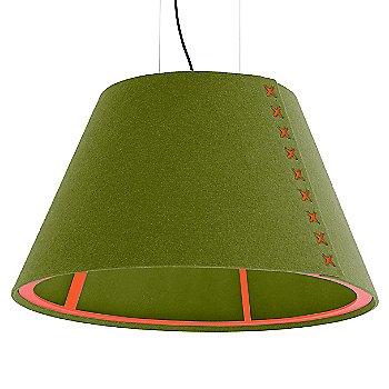 Fluorescent Orange frame / BuzziFelt Lime shade / Fluorescent Orange lace / Black cable