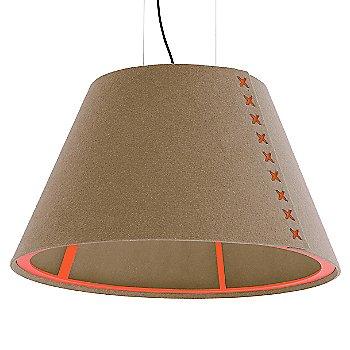 Fluorescent Orange frame / BuzziFelt Mokka shade / Fluorescent Orange lace / Black cable