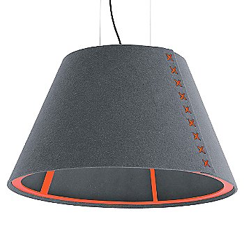 Fluorescent Orange frame / BuzziFelt Stone Grey shade / Fluorescent Orange lace / Black cable