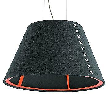 Fluorescent Orange frame / BuzziFelt Anthracite shade / White lace / Aluminum cable