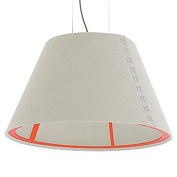 Fluorescent Orange frame / BuzziFelt Off White shade / White lace / Aluminum cable