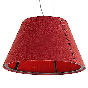 Black frame / BuzziFelt Red shade / Black lace / Aluminum cable