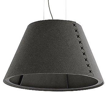 Black frame / BuzziFelt Eco Brown shade / Black lace / Aluminum cable