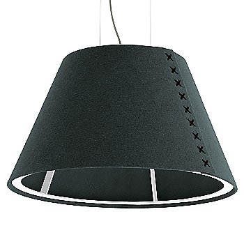 White frame / BuzziFelt Anthracite shade / Black lace / Aluminum cable