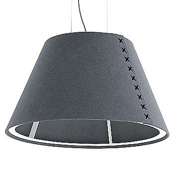 White frame / BuzziFelt Stone Grey shade / Black lace / Aluminum cable