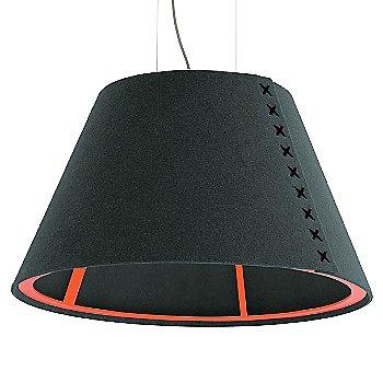 Fluorescent Orange frame / BuzziFelt Anthracite shade / Black lace / Aluminum cable