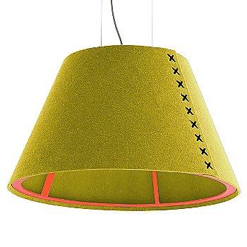Fluorescent Orange frame / BuzziFelt Curry shade / Black lace / Aluminum cable