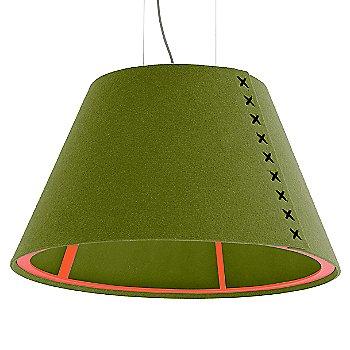 Fluorescent Orange frame / BuzziFelt Lime shade / Black lace / Aluminum cable