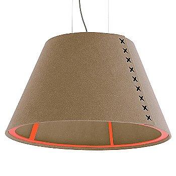 Fluorescent Orange frame / BuzziFelt Mokka shade / Black lace / Aluminum cable