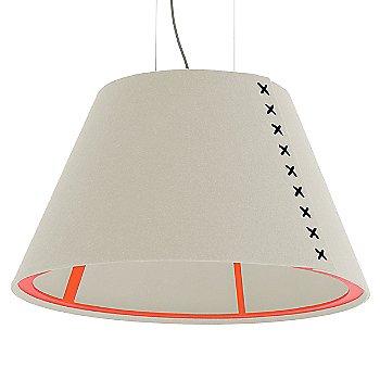 Fluorescent Orange frame / BuzziFelt Off White shade / Black lace / Aluminum cable