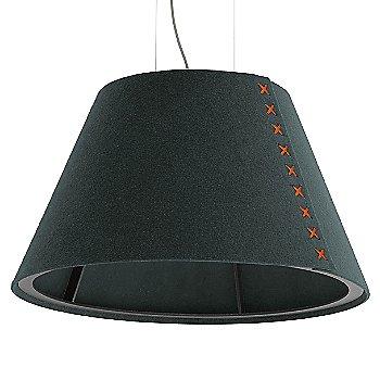 Black frame / BuzziFelt Anthracite shade / Fluorescent Orange lace / Aluminum cable