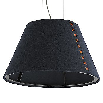 Black frame / BuzziFelt Jeans shade / Fluorescent Orange lace / Aluminum cable