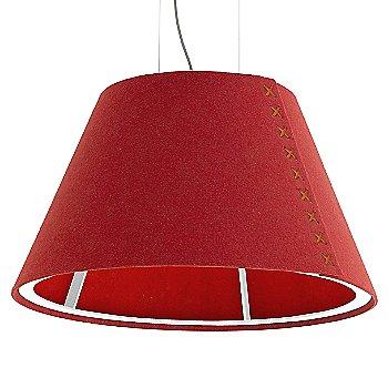 White frame / BuzziFelt Red shade / Fluorescent Orange lace / Aluminum cable