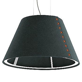 White frame / BuzziFelt Anthracite shade / Fluorescent Orange lace / Aluminum cable