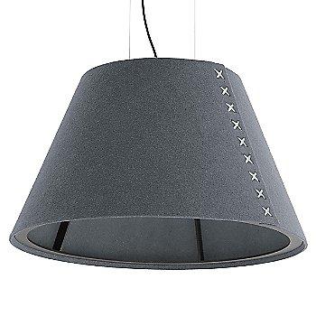 Black frame / BuzziFelt Stone Grey shade / White lace / Black cable