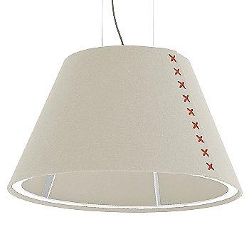 White frame / BuzziFelt Off White shade / Fluorescent Orange lace / Aluminum cable