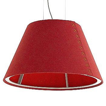 Aluminum / Not Powdercoated frame / BuzziFelt Red shade / Fluorescent Orange lace / Aluminum cable
