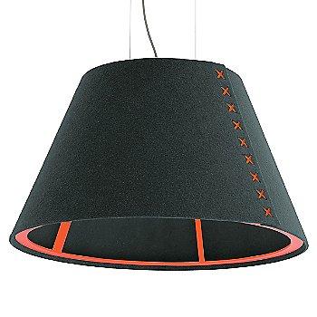 Fluorescent Orange frame / BuzziFelt Anthracite shade / Fluorescent Orange lace / Aluminum cable