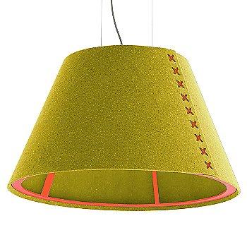 Fluorescent Orange frame / BuzziFelt Curry shade / Fluorescent Orange lace / Aluminum cable