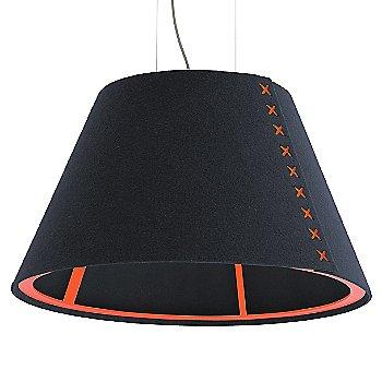 Fluorescent Orange frame / BuzziFelt Jeans shade / Fluorescent Orange lace / Aluminum cable
