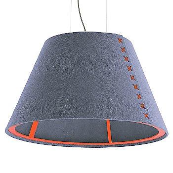 Fluorescent Orange frame / BuzziFelt Light Blue shade / Fluorescent Orange lace / Aluminum cable