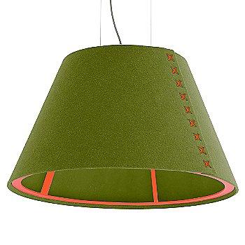 Fluorescent Orange frame / BuzziFelt Lime shade / Fluorescent Orange lace / Aluminum cable