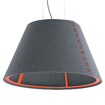 Fluorescent Orange frame / BuzziFelt Stone Grey shade / Fluorescent Orange lace / Aluminum cable