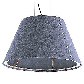 Aluminum / Not Powdercoated frame / BuzziFelt Light Blue shade / White lace / Black cable