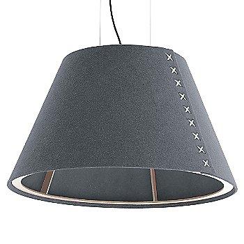 Aluminum / Not Powdercoated frame / BuzziFelt Stone Grey shade / White lace / Black cable