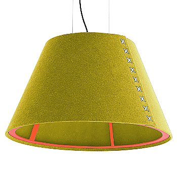 Fluorescent Orange frame / BuzziFelt Curry shade / White lace / Black cable