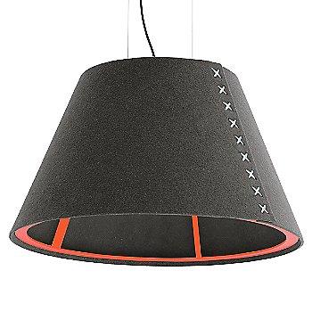 Fluorescent Orange frame / BuzziFelt Eco Brown shade / White lace / Black cable