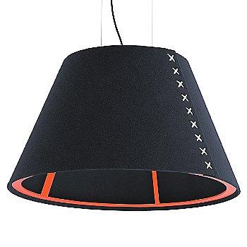 Fluorescent Orange frame / BuzziFelt Jeans shade / White lace / Black cable