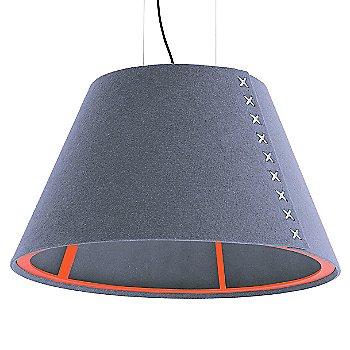 Fluorescent Orange frame / BuzziFelt Light Blue shade / White lace / Black cable