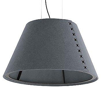 Black frame / BuzziFelt Stone Grey shade / Black lace / Black cable