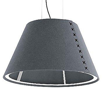 White frame / BuzziFelt Stone Grey shade / Black lace / Black cable