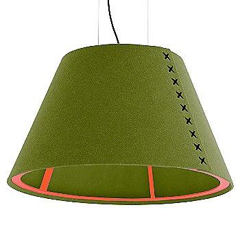 Fluorescent Orange frame / BuzziFelt Lime shade / Black lace / Black cable
