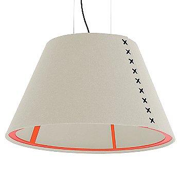 Fluorescent Orange frame / BuzziFelt Off White shade / Black lace / Black cable
