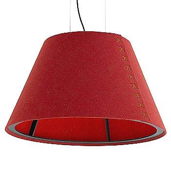 Black frame / BuzziFelt Red shade / Fluorescent Orange lace / Black cable