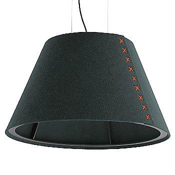 Black frame / BuzziFelt Anthracite shade / Fluorescent Orange lace / Black cable