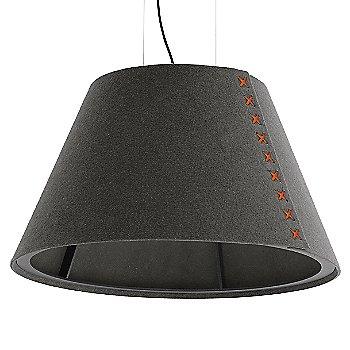 Black frame / BuzziFelt Eco Brown shade / Fluorescent Orange lace / Black cable