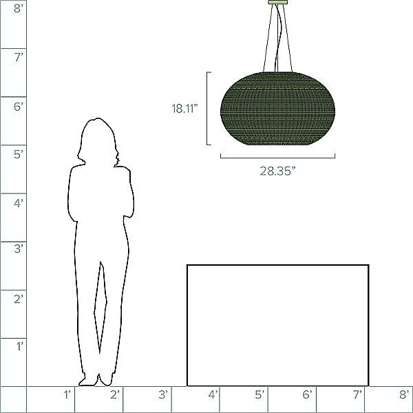 Garota 02 Outdoor Pendant Light