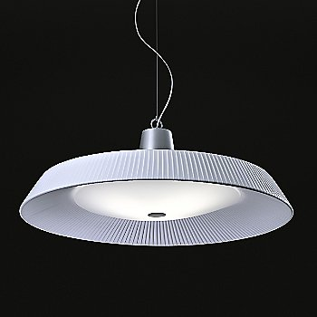 Shown lit with White Translucent Ribbon and Satin Aluminum finish
