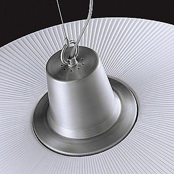 Shown with White Translucent Ribbon and Satin Aluminum finish