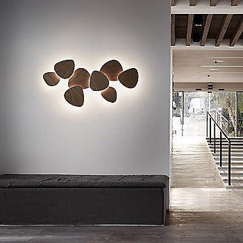 Shown lit in Natural Oak, 8 Lights