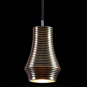 Antique Brass with Black Fabric Cable finish