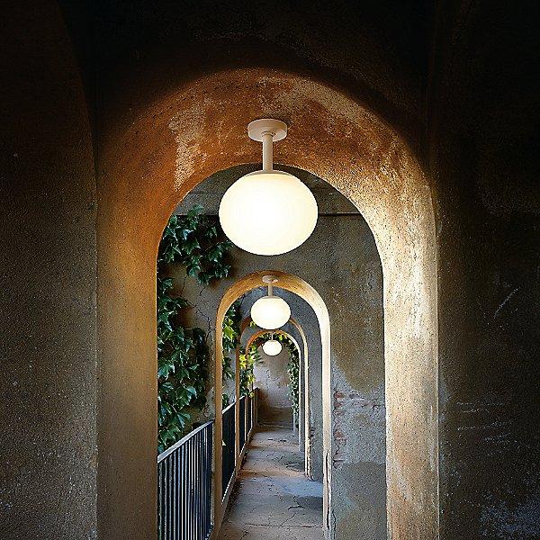 Elipse Outdoor Semi-Flush Mount Ceiling Light