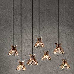 Domita Suspended Multi Light Pendant Light