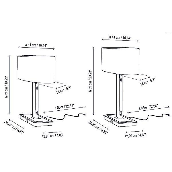 Oval USB Table Lamp