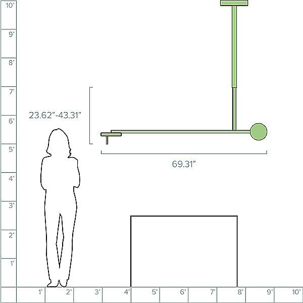 Invisible PF/1L LED Pendant Light