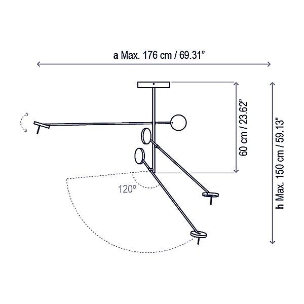 Invisible PF/3L LED Pendant Light